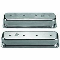 Engine Components - Racing Power - Racing Power Polished Aluminum Valve Covers - Tall - SB Chevy 87-97 Valve Covers - (1) Hole