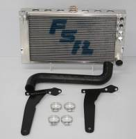 FSR Radiators - FSR Aluminum Sprint Car Radiators - FSR Racing Products - FSR Engine Mounted Sprint Car Radiator - 2 Row - Fits Maxim or Eagle