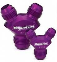 "AN to AN Fittings & Adapters - ""Y"" AN Adapters - MagnaFuel - MagnaFuel Y-Fitting - Single -10 to Double -8"