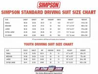 Simpson Auto Racing Suit Sizing Chart