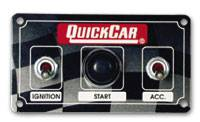 Switch Panels - QuickCar Switch Panels - QuickCar Racing Products - QuickCar ICP01 Dirt Car Switch Panel - Water Proof Micro Ignition Switch and Accessory Switch - Start Button