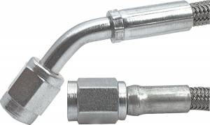 Fittings & Hoses - Brake Line Hoses - #3 Braided Steel Hose With -3AN Straight / 45 Degree Ends