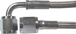 Fittings & Hoses - Brake Line Hoses - #3 Braided Steel Hose With -4AN Straight / 90 Degree Ends
