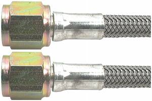 Fittings & Hoses - Brake Line Hoses - #4 Braided Steel Hose With -4AN Straight Ends