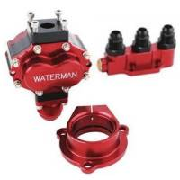 Sprint Car & Open Wheel - Waterman Racing Components - Waterman Micro-Bertha Lightweight 400 Steel Sprint Fuel Pump w/ Manifold