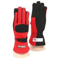 SFI 5 Rated Gloves - RaceQuip Gloves - RaceQuip - RaceQuip 355 Nomex Driving Glove - Red - X-Large