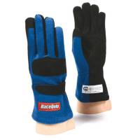 SFI 5 Rated Gloves - RaceQuip Gloves - RaceQuip - RaceQuip 355 Nomex Driving Glove - Blue - X-Large