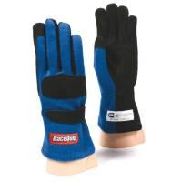 RaceQuip Gloves - RaceQuip 355 Nomex Driving Gloves - $49.95 - RaceQuip - RaceQuip 355 Nomex Driving Glove - Blue - X-Large