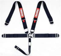 Safety Equipment - Seat Belts & Harnesses - RaceQuip - RaceQuip Latch & Link 5-Point Harness Assembly - Pull Down - Bolt-In or Wrap Around Mount - Black