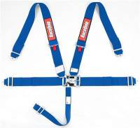 Safety Equipment - Seat Belts & Harnesses - RaceQuip - RaceQuip Latch & Link 5-Point Harness Assembly - Pull Down - Bolt-In or Wrap Around Mount - Blue