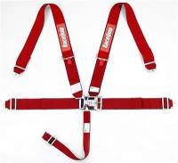 Safety Equipment - Seat Belts & Harnesses - RaceQuip - RaceQuip Latch & Link 5-Point Harness Assembly - Pull Down - Bolt-In or Wrap Around Mount - Red