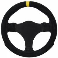 "Sprint Car & Open Wheel - Grant Steering Wheels - Grant Suede Steering Wheel - 11"" Diameter - Black - Undrilled"