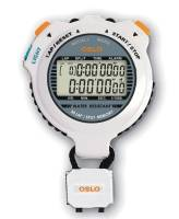 Tools & Pit Equipment - Robic - Robic OSLO Silver 60 Dual Memory Stopwatch w/ EL Blacklight