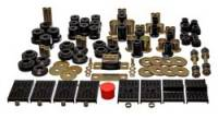 Bushings - Master Bushing Sets - Energy Suspension - Energy Suspension Hyper-Flex Bushing Master Set - Polyurethane - Black - Chevy, Pontiac, Nova, Firebird