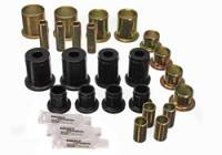 Control Arm Bushings - Polyurethane Bushings - Energy Suspension - Energy Suspension Front Control Arm Bushing Set - Front - Upper, Lower - Polyurethane - Black, Chevy, Oldsmobile, Pontiac, Passenger Car