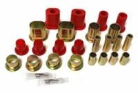 Control Arm Bushings - Polyurethane Bushings - Energy Suspension - Energy Suspension Front Control Arm Bushing Set - Front - Upper, Lower - Polyurethane - Red - Buick, Chevy, Oldsmobile, Pontiac, Passenger Car