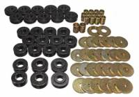 Street Performance USA - Energy Suspension - Energy Suspension Body Mount Bushing Set - Polyurethane - Black - 65-67 Chevy, Chevelle, El Camino, Malibu