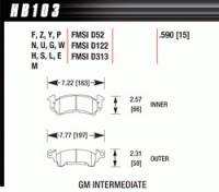 Brake Pad Sets - Circle Track - GM Pads (D52) - Hawk Performance - Hawk Performance Brake Pad Set - Fits Full Size GM Calipers - DTC-30 Compound