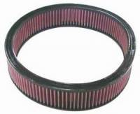 """Universal Round Air Filters - 14"""" Round Air Filters - K&N Filters - K&N Performance Air Filter - 14"""" x 3-1/16"""" - GM/Impco/Mercedes Benz"""