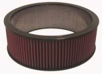 "Air Filter Elements - Universal Air Filters - K&N Filters - K&N Air Filter Element w/ Wire Reinforcement - 14"" x 5"""