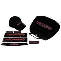 NecksGen Head and Neck Restraint includes Case, NecksGen Flexfit Hat, Decal Kit, and Patch.