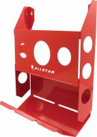 Trailer Storage Racks - Magazine Rack - Allstar Performance - Allstar Performance Single Magazine Rack w/ Toilet Paper Holder - Red