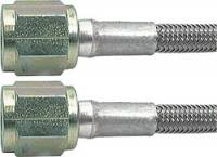 """Brake Hoses - #3 Braided Steel Hose - Straight -4AN Ends - Allstar Performance - Allstar Performance 15"""" #3 Braided Stainless Steel Line w/ -4 Straight Ends"""
