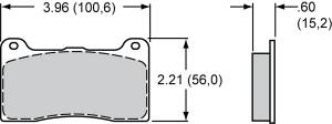 Brake Pad Sets - Brake Pad Sets - Circle Track - Billet Narrow Dynalite Pads (7816)