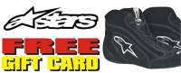 Alpinestars Shoes Free eGift Card Promotion