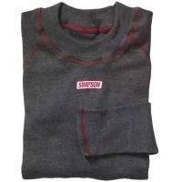 Underwear - Simpson Underwear - Simpson Race Products - Simpson 6 oz. SFI 3.3 Contoured Underwear Long Sleeve Top