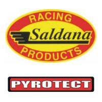 "Air & Fuel System Gaskets and Seals - Fuel Cell Fill Plate Gaskets - Saldana Racing Products - Pyrotect PyroSprint Rubber Alcohol Gasket - 6"" X 10"" Bottom Plate 24 Hole"
