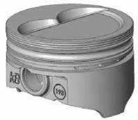 "Engine Components - KB Performance Pistons - KB Pistons Performance Hypereutectic D-Cup Piston Set - SB Chevy 283-400 - Bore Size: 4.030"", Stroke: 3.750"", Rod Length: 5.700"""