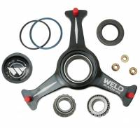"Front End Components - Front Hubs - Weld Racing - Weld Sprint Car Ultra Hub - 3 Spoke - Black - 15"" - Left w/ Rotor Mount"
