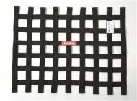 """Window Nets - Ribbon Window Nets - RaceQuip - RaceQuip 18"""" x 24"""" Ribbon Window Net - Black"""