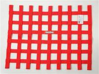 "Ribbon Window Nets - 18"" x 24"" Ribbon Window Nets - RaceQuip - RaceQuip 18"" x 24"" Ribbon Window Net - Red"