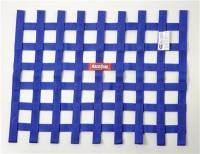 "Ribbon Window Nets - 18"" x 24"" Ribbon Window Nets - RaceQuip - RaceQuip 18"" x 24"" Ribbon Window Net - Blue"