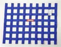 "Ribbon Window Nets - 18"" x 24"" Ribbon Window Nets - RaceQuip - RaceQuip 18"" x 24"" Ribbon Window Net - Blue"