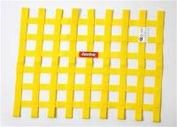 "Ribbon Window Nets - 18"" x 24"" Ribbon Window Nets - RaceQuip - RaceQuip 18"" x 24"" Ribbon Window Net - Yellow"
