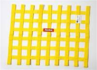 "Window Nets - Ribbon Window Nets - RaceQuip - RaceQuip 18"" x 24"" Ribbon Window Net - Yellow"