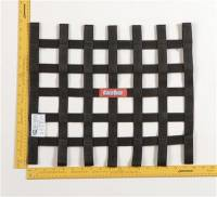 "Ribbon Window Nets - 15"" x 18"" Ribbon Window Nets - RaceQuip - RaceQuip Ribbon Net - 15"" x 18"" - Black"