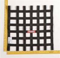 "Ribbon Window Nets - 18"" x 18"" Ribbon Window Nets - RaceQuip - RaceQuip Ribbon Net 18x18 SFI Black"