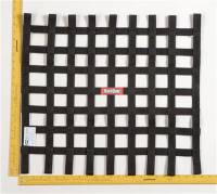 "Ribbon Window Nets - 21"" x 24"" Ribbon Window Nets - RaceQuip - RaceQuip Ribbon Net 21x24 SFI Black"