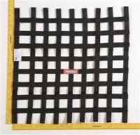 "Ribbon Window Nets - 24"" x 24"" Ribbon Window Nets - RaceQuip - RaceQuip Ribbon Net 24x24 SFI Black"